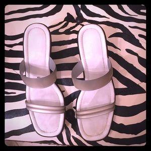 Naturalizer size 7.5 wedge heel sandal.